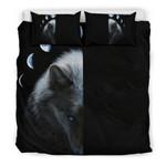 Wolf and Moon 3D Customize Bedding Set Duvet Cover SetBedroom Set Bedlinen
