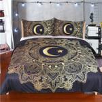 Golden Mandala Flowerstar MoonBlack Dark Blue oft Duvet Cover Coveringle Bed Cover3D Customize Bedding Set Duvet Cover SetBedroom Set Bedlinen