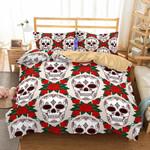 3D Art Pattern Whitekull Printeds3D Customize Bedding Set Duvet Cover SetBedroom Set Bedlinen