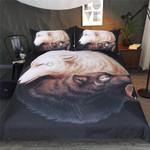 DefaultBlack Yin And Yang Wolves3D Customize Bedding Set Duvet Cover SetBedroom Set Bedlinen