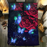 BUTTERFLY AND ROSE COLLECTION #0905063D Customize Bedding Set Duvet Cover SetBedroom Set Bedlinen