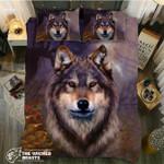 DefaultAutumn Wolf3D Customize Bedding Set Duvet Cover SetBedroom Set Bedlinen