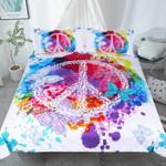 Peace With Flying Butterflies PQ 9053 PQ ART HOP 3D Customized Bedding Sets Duvet Cover Bedlinen Bed set