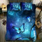 DefaultBlue Cosmos Butterfly3D Customize Bedding Set Duvet Cover SetBedroom Set Bedlinen