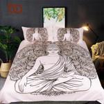 Buddha PrintedQueen India Bed Cover Peceful MeditatingBedclothes3D Customize Bedding Set Duvet Cover SetBedroom Set Bedlinen