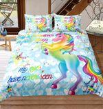 Rainbow Unicorn withtars(Blue)3D Customize Bedding Set Duvet Cover SetBedroom Set Bedlinen