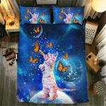 Butterfly And Cat #091913D Customize Bedding Set Duvet Cover SetBedroom Set Bedlinen