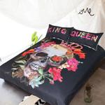 BlessLiving Crowned Floralkull ugarkull King Queen  for Couple Gothic et3D Customize Bedding Set/ Duvet Cover Set/  Bedroom Set/ Bedlinen