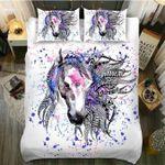 DefaultTribal Horse Lady3D Customize Bedding Set Duvet Cover SetBedroom Set Bedlinen