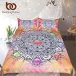 MandalaCrystal GemstoneWith Bohemian Floral et Colorful Bedclothes 3D Customize Bedding Set Duvet Cover SetBedroom Set Bedlinen