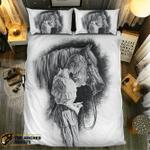 Lady and her Horse #09175 3D Customize Bedding Set Duvet Cover SetBedroom Set Bedlinen