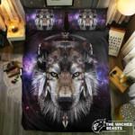 Wolf Wearing Headphone3D Customize Bedding Set Duvet Cover SetBedroom Set Bedlinen