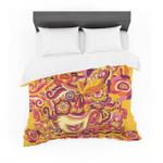 "Alisa Drukman ""Utopia"" Orange Gold Featherweight3D Customize Bedding Set Duvet Cover SetBedroom Set Bedlinen"