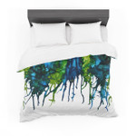 """Claire Day """"Drops"""" Green Featherweight3D Customize Bedding Set Duvet Cover SetBedroom Set Bedlinen"""