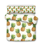 Home Decor DesignFruit Theme Pineapple Print Multiize Chooses3D Customize Bedding Set Duvet Cover SetBedroom Set Bedlinen