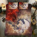 DefaultAngel And Demon Horse3D Customize Bedding Set Duvet Cover SetBedroom Set Bedlinen