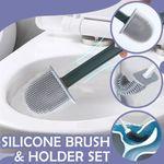 Sharon 360° Bendable Eco-friendly Efficient Bathroom Toilet Cleaning Brush & Holder Set