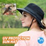Jolie Women Foldable UV Protection Wide Brim Sun Cooling Mesh Ponytail Hole Hats