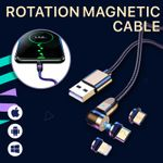 Voltar Universal 3-in-1 Compatible Magnetic 360° Rotating Free Charging Cable
