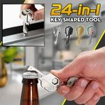 Geary 24-in-1 Multifunctional Durable Key Shaped Stainless Steel Pocket Tool
