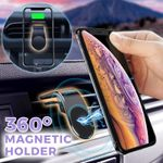 Maggy Universal 360 Degrees Rotation L-Shape Magnetic Car Phone Holder