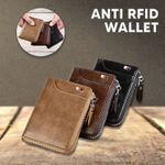 Fossy Multi-function Waterproof RFID Blocking Leather Wallet