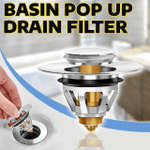 Lauf Universal Stainless Steel Bounce Core Push-Type Drain Filter