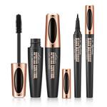 Eyeliner Mascara 2 In 1 Waterproof Sweatproof Long Lasting Not Blooming Professional Makeup Set
