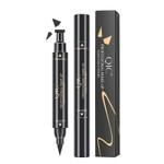 2 in 1 Eyeliner Waterproof 24H Long Lasting Not Blooming Liquid Eyeliner Makeup Pencil Q614