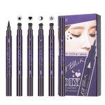 Double Head Eyeliner Waterproof Long Lasting Not Blooming Moon Star Heart Flower Eyeliners Makeup Pencil Q606