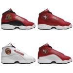 San Francisco 49ers AJ13 Sports Teams Shoes