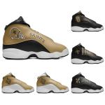 New Orleans Saints AJ13 Sports Teams Shoes
