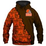 Cleveland Browns Hoodie American Flag Skull Football Sweatshirt