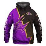 Baltimore Ravens Hoodie American Flag Skull Venom Halloween Murderer Freddy Jason American Football Sweatshirt