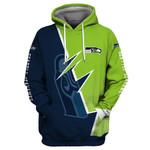 Seattle Seahawks Hoodie Flag Skull American Football Sports Team Sweatshirt