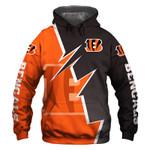 Cincinnati Bengals Hoodie USA Flag Skull Venom Halloween Murderer Jason Freddy Football Sweatshirt