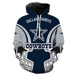 Dallas Cowboys Hoodie Skull Venom American Flag Jack Skellington Grim Reaper Football Sweatshirt