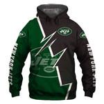 New York Jets Hoodie American Flag Venom Skull Sports Team Sweatshirt