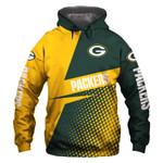 Green Bay Packers Hoodie Skull American Flag Football Sports Team Sweatshirt