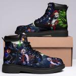 Jack Skellington Boots Colorful Tie Dye Shoes