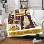 Harry Potter Blanket Hogwarts School Motto Draco Dormiens Nunquam Titillandus Blanket