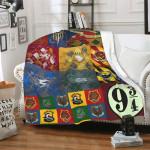 Harry Potter Vintage Cozy Hogwarts Blanket