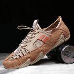 Zapatos transpirables de hombre con suela blanda Mesh Casual