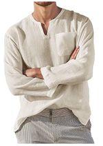 Camisa de lino de color sólido