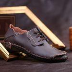 Zapatos casuales de cuero de vaca hechos a mano para hombres