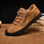 Zapatos casuales de cuero hechos a mano para hombres