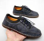 Zapatos casuales de hombre hechos a mano viajan zapatos de cuero transpirable