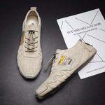 Zapatos deportivos exteriores de cuero genuino transpirable