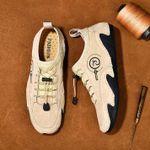 Zapatos de conducción cosidos a mano, transpirables y suaves