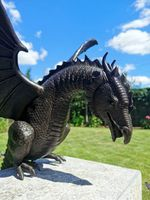 Fundición de inversión Escultura de dragón de respiración de fuego Paisaje acuático